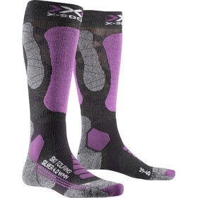 X-Socks Ski Touring Silver 4.0 Calcetines Mujer, anthracite melange/magnolia